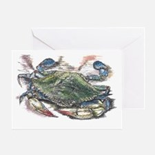 Blue Crab Greeting Card
