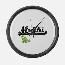Mekhi Classic Name Design with Di Large Wall Clock