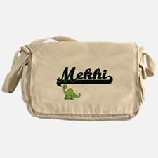 Mekhi Classic Name Design with Dinos Messenger Bag