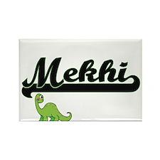 Mekhi Classic Name Design with Dinosaur Magnets