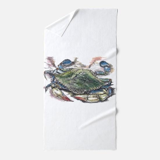 Blue Crab Beach Towel