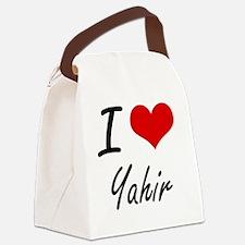 I Love Yahir Canvas Lunch Bag