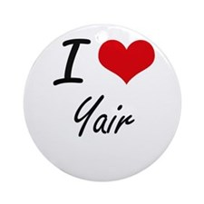 I Love Yair Round Ornament