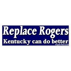 Replace Rogers Bumper Bumper Sticker