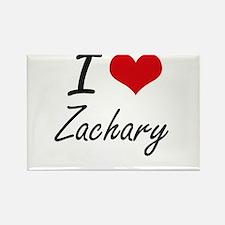I Love Zachary Magnets