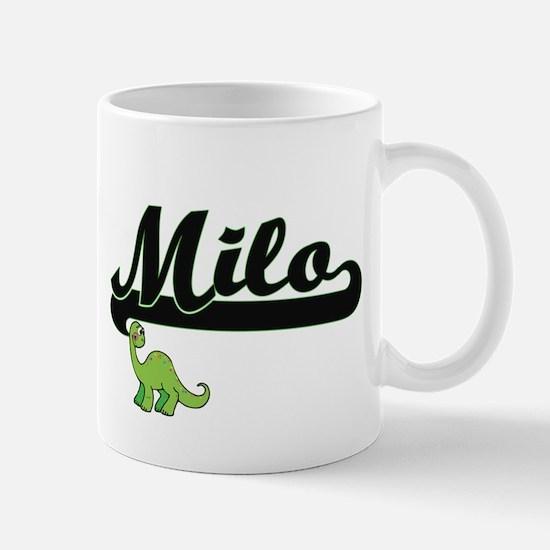 Milo Classic Name Design with Dinosaur Mugs