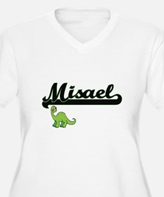 Misael Classic Name Design with Plus Size T-Shirt