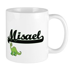 Misael Classic Name Design with Dinosaur Mugs