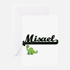 Misael Classic Name Design with Din Greeting Cards