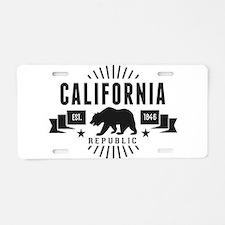 California Republic Aluminum License Plate