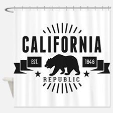 California Republic Shower Curtain