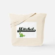 Mitchel Classic Name Design with Dinosaur Tote Bag