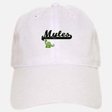 Myles Classic Name Design with Dinosaur Baseball Baseball Cap