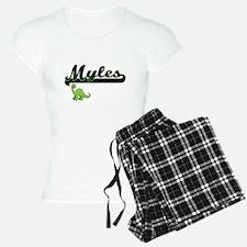 Myles Classic Name Design w Pajamas