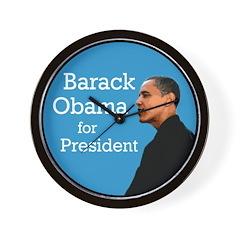 Barack Obama for President Wall Clock