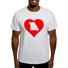 Missouri Heart Cutout T-Shirt