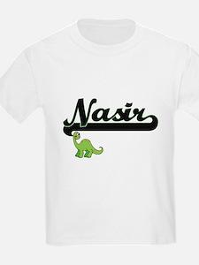 Nasir Classic Name Design with Dinosaur T-Shirt