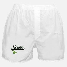 Nasir Classic Name Design with Dinosa Boxer Shorts
