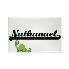 Nathanael Classic Name Design with Dinosau Magnets