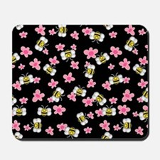 Bee Happy Floral 2 Mousepad