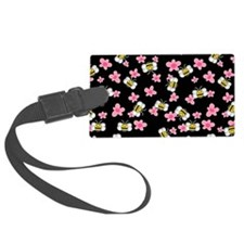 Bee Happy Floral 2 Luggage Tag