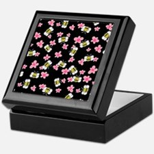 Bee Happy Floral 2 Keepsake Box