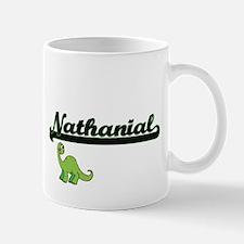Nathanial Classic Name Design with Dinosaur Mugs