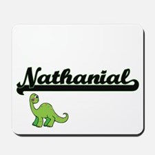 Nathanial Classic Name Design with Dinos Mousepad