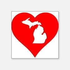 Michigan Heart Cutout Sticker