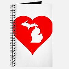 Michigan Heart Cutout Journal