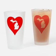 Michigan Heart Cutout Drinking Glass