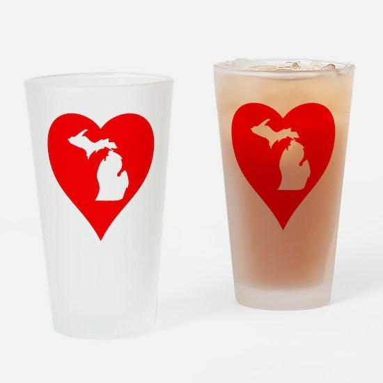 Michigan Heart Cutout Drinking Glass