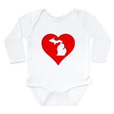 Michigan Heart Cutout Body Suit