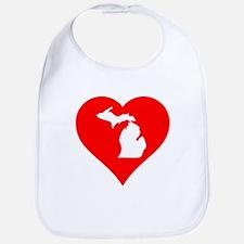 Michigan Heart Cutout Bib