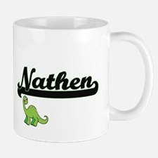Nathen Classic Name Design with Dinosaur Mugs