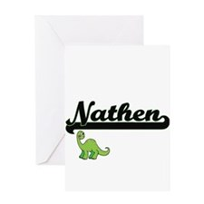 Nathen Classic Name Design with Din Greeting Cards