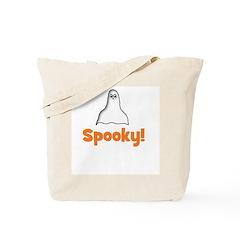 Spooky! (ghost) Tote Bag