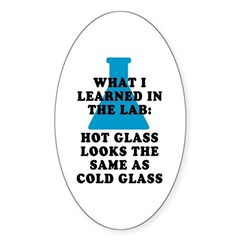 Lab Glass Sticker (Oval)