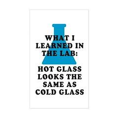 Lab Glass Sticker (Rectangle)