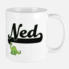 Ned Classic Name Design with Dinosaur Mugs