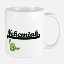 Nehemiah Classic Name Design with Dinosaur Mugs