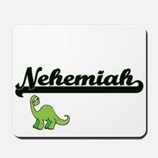 Nehemiah Classic Name Design with Dinosa Mousepad