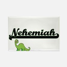 Nehemiah Classic Name Design with Dinosaur Magnets