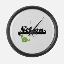 Nelson Classic Name Design with D Large Wall Clock
