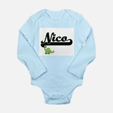 Nico Classic Name Design with Dinosaur Body Suit