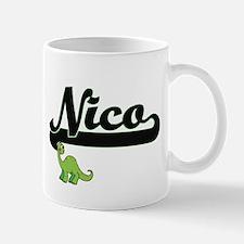 Nico Classic Name Design with Dinosaur Mugs