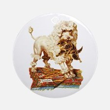 VICTORIAN POODLE ART Ornament (Round)