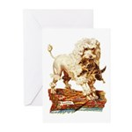 VICTORIAN POODLE ART Greeting Cards (Pk of 10)