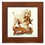 VICTORIAN POODLE ART Framed Tile