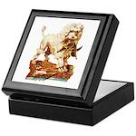VICTORIAN POODLE ART Keepsake Box